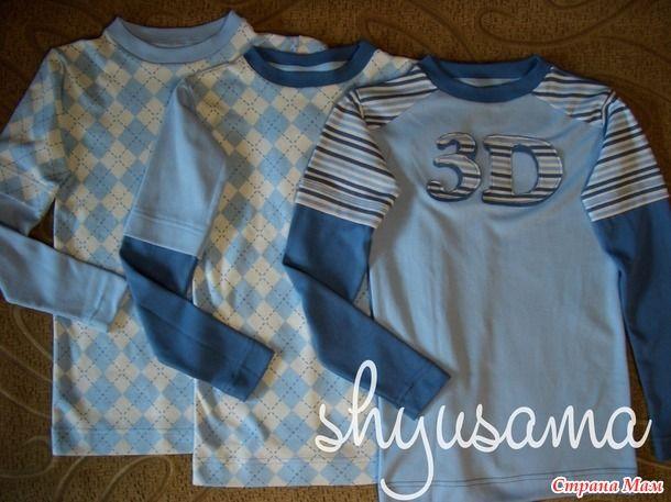 Шью сама: Лонгсливы и футболки для сына в школу