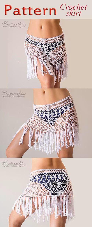 Katrinshine: New pattern for fringed boho beach crochet skirt ook leuk voor…