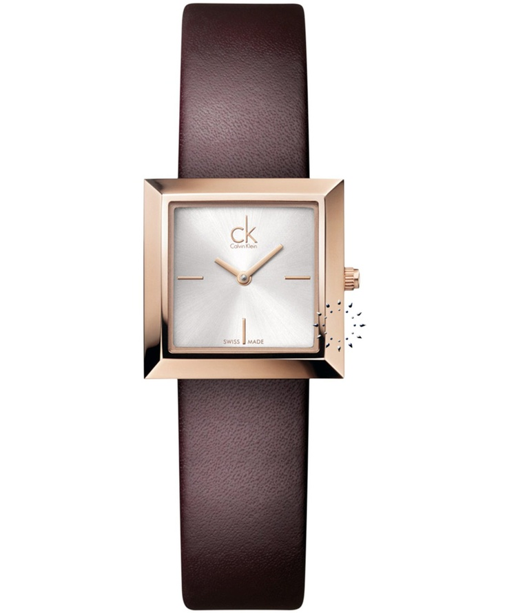 CALVIN KLEIN Mark Brown Leather Strap  Τιμή: 241€  http://www.oroloi.gr/product_info.php?products_id=31924