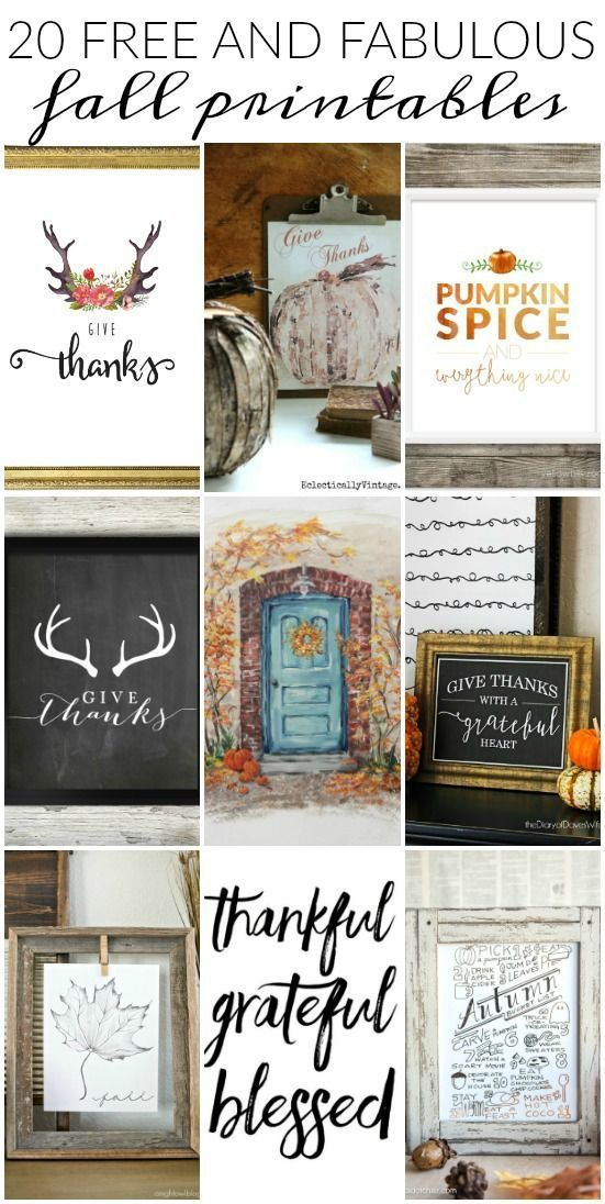Update your home for fall with these fabulous and FREE fall printables! www.littlehouseof...