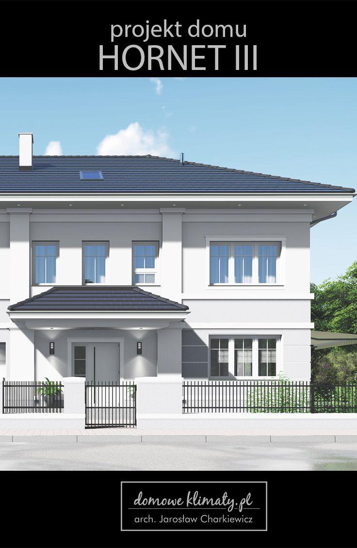 Projekt domu piętrowego o powierzchni ok 173 m² z garażem dwustanowiskowym. Jego wygląd zewnętrzny charakteryzuje prostota bryły o miłych dla oka proporcjach. Funkcjonalne wnętrze oferuje pełen zestaw pomieszczeń użytkowych i gospodarczych. Uwagę zwraca duży przedsionek, wykorzystanie miejsca pod schodami na spiżarnię, a także osobna pralnia i duże garderoby na piętrze. Pokoje są przestronne i widne, co jest zaletą budynków piętrowych.