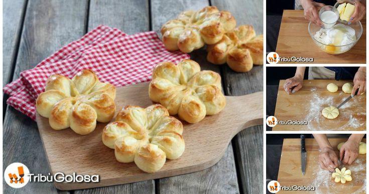 Fiorellini di pan brioche