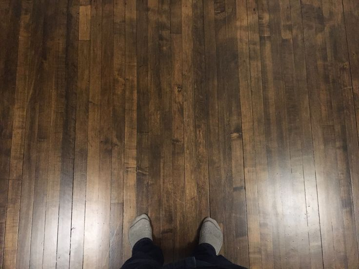 How I stained my maple floors dark. (SPOILER: GEL STAIN)