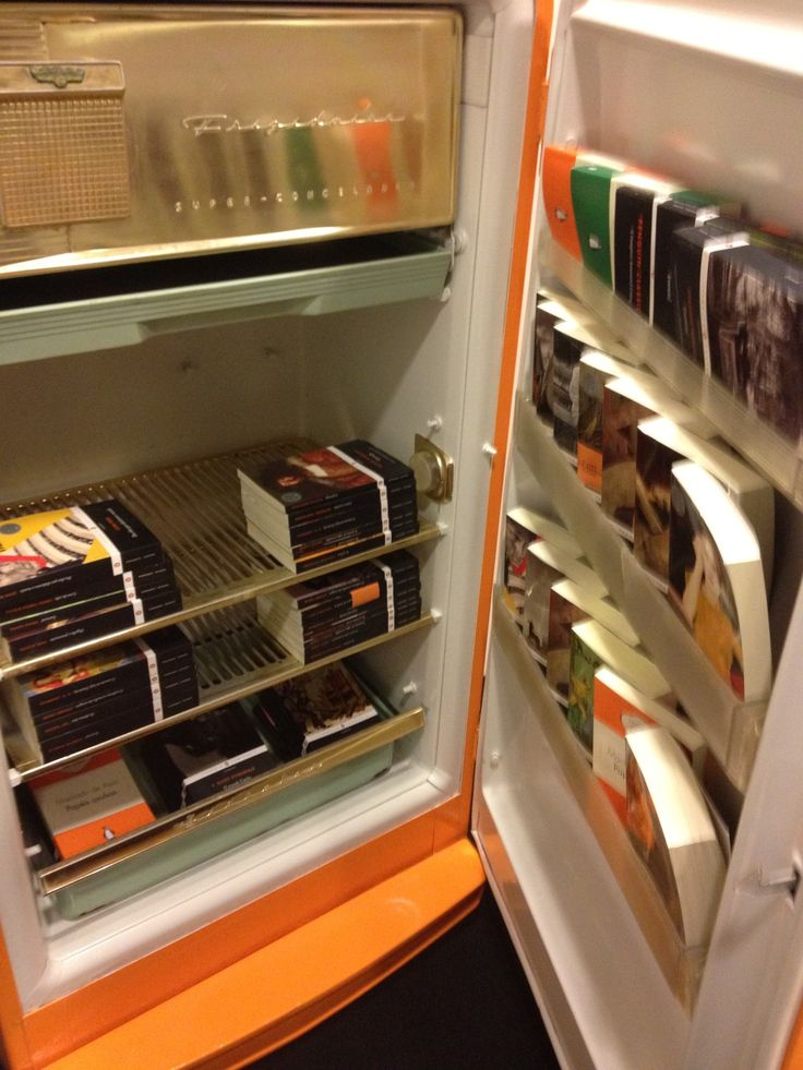 """Yes, but does YOUR office have an orange refrigerator full of Penguin Classics?"""