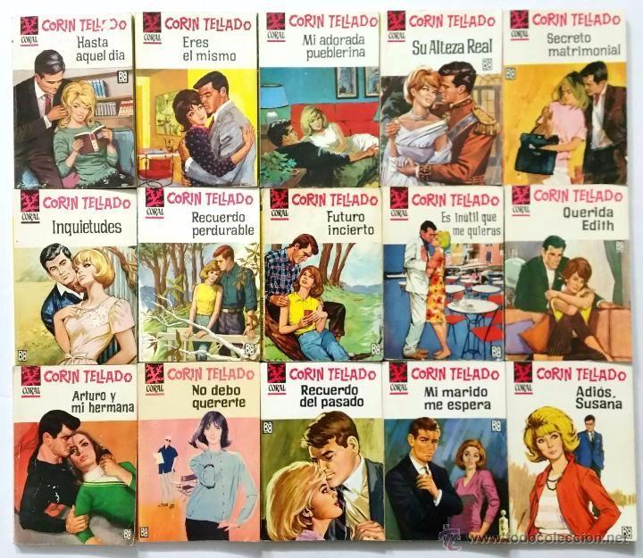 Libros de segunda mano: LOTE DE 110 NOVELAS ROMÁNTICAS CORIN TELLADO // COLECCIÓN CORAL // EDITORIAL BRUGUERA // AÑOS 60 - Foto 7 - 53486195