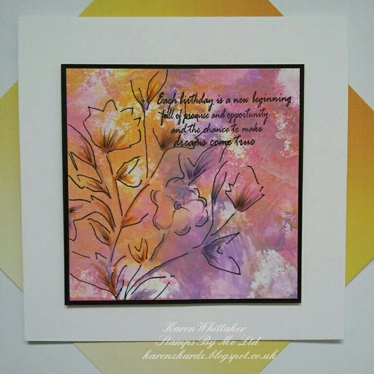Floral Splendor stencil from Stamps By Me  #stampsbyme #dtsample #floralsplendor #stencil #flowers #distressoxides #craft #creative #ilovetocraft #creativity #karenzkardz