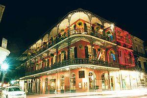Nueva Orleans - El Royal Café ubicado en el French Quarter o Barrio Francés.