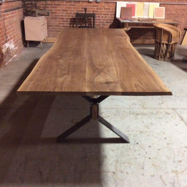Custom Made Live Edge Farm Style Dining Table