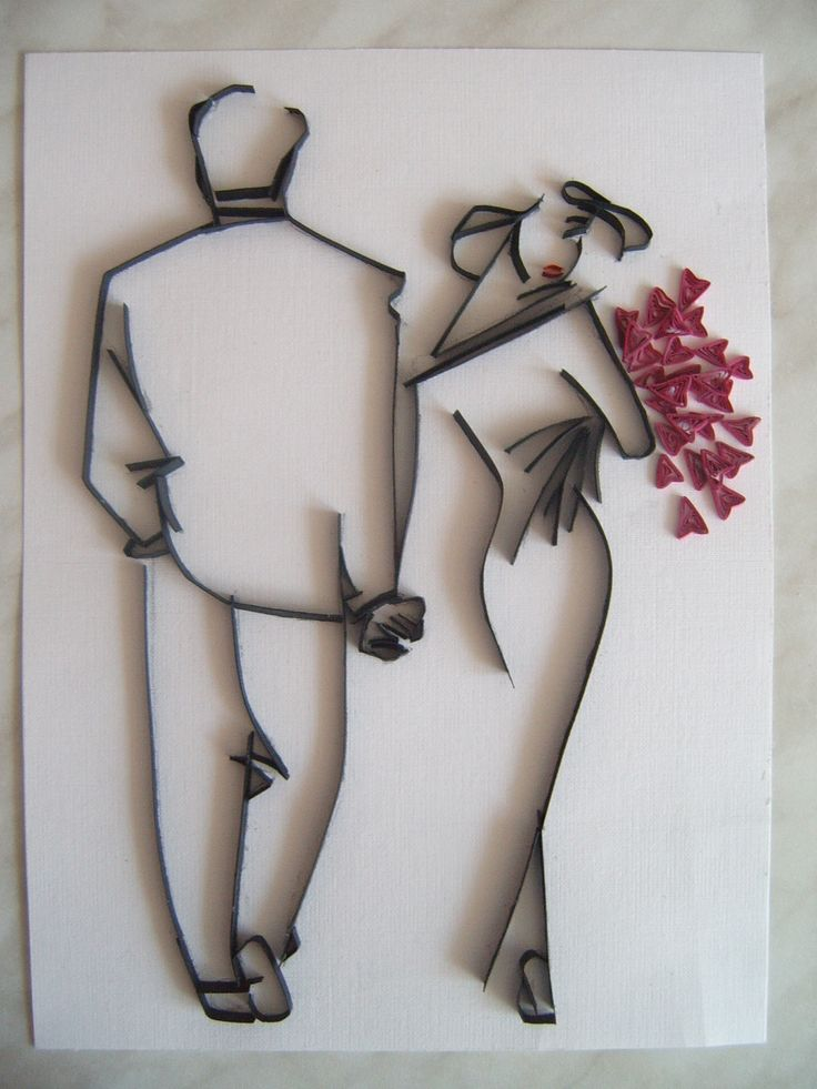 Quilled couple