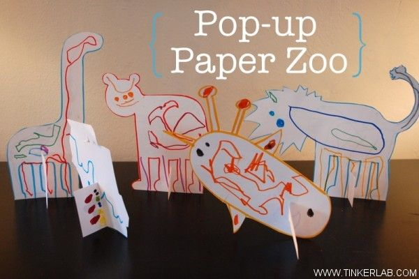 Pop Up Zoos : Pop up paper zoo free download coloring creative