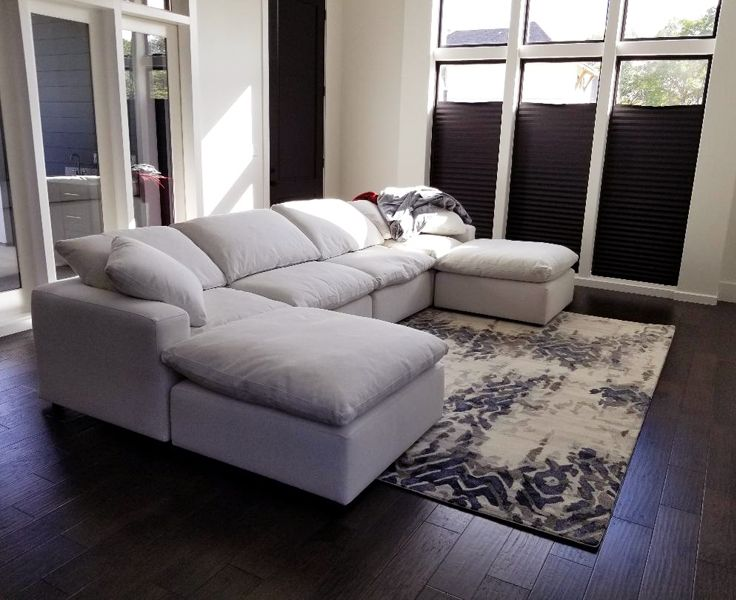 Jaunty Soho So 11 Fog Modern Area Rug Looks Great In This Clients