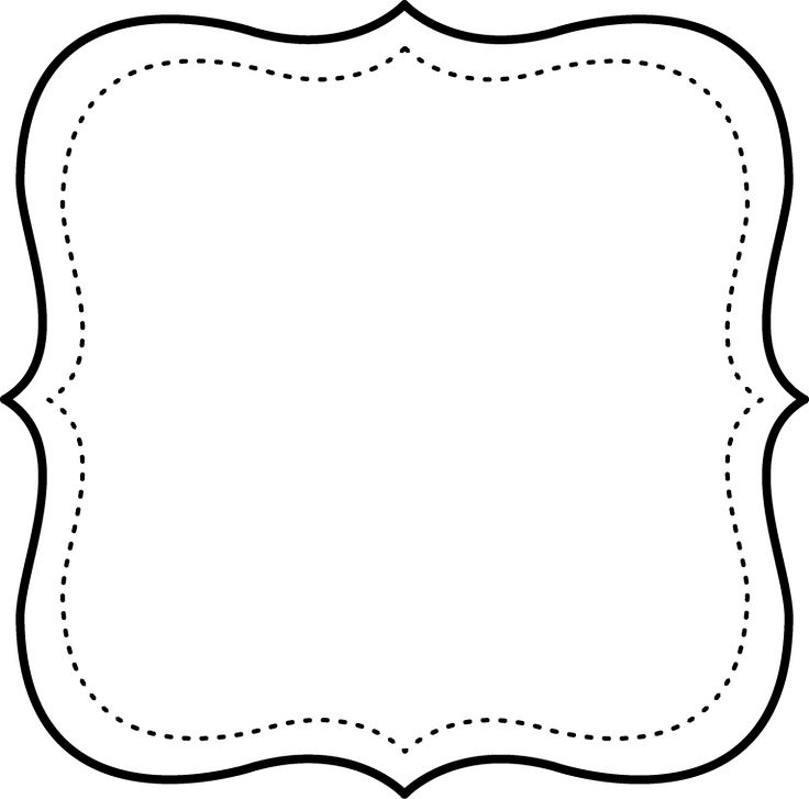 Free printable black and withe frame