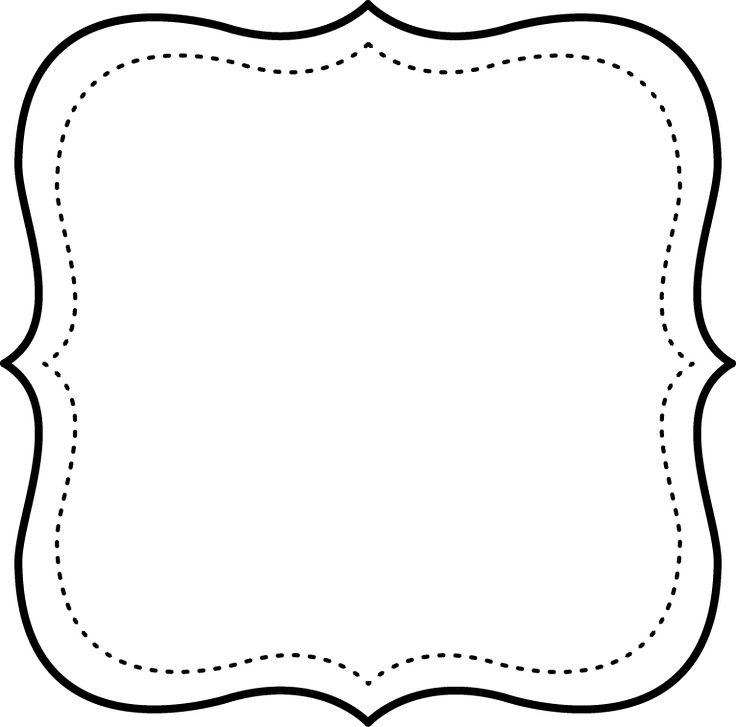 Marcos en blanco y negro para imprimir gratis Marcos de cuadros blancos