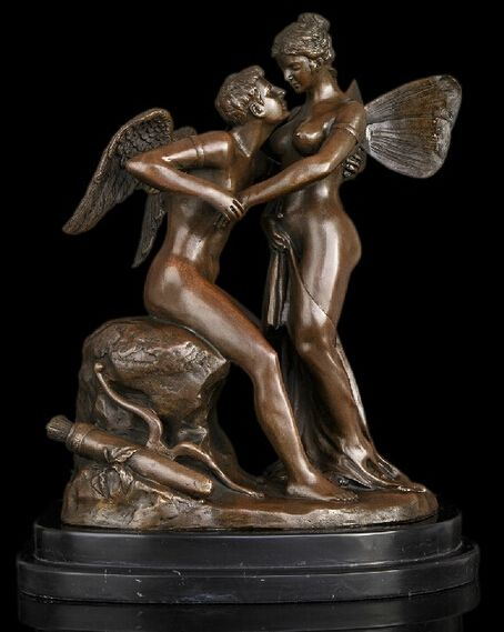 bronze Decoration Pure Brass Good value Lucky 14 Abstract Art Sculpture Decoration Angel Copper Bronze Marble Statue Figurine