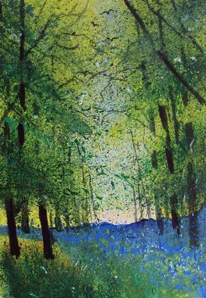 Rooks Woods Bluebells by Teresa Tanner | Artgallery.co.uk