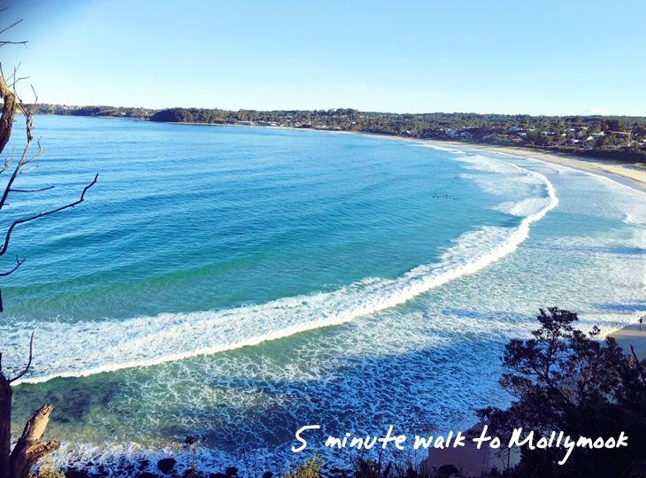 Beaches Mollymook - 5 minutes to walk to the beach
