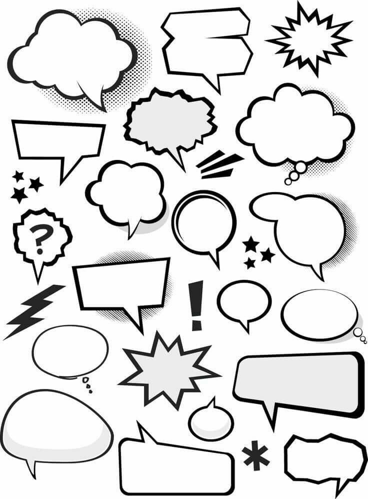 Comic Style Speech Bubbles.