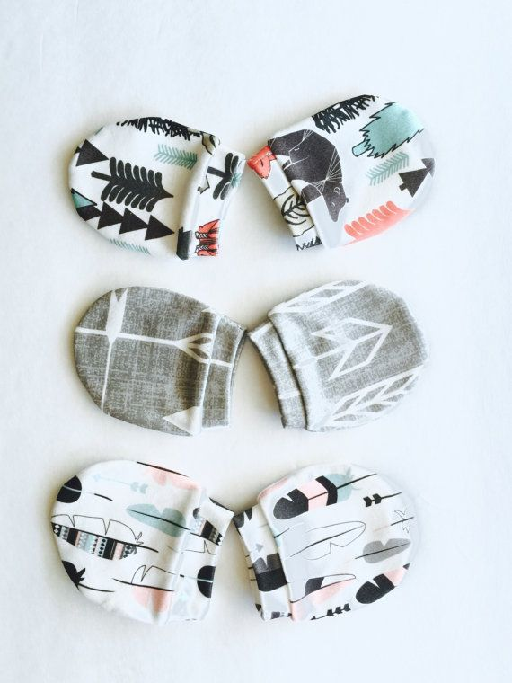 baby mittens, organic baby gloves,cotton mitten, No Scratch Mitten,Newborn…