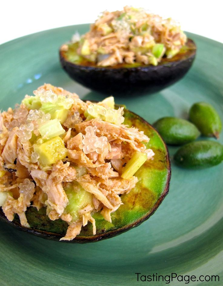 Tuna Stuffed Avocado with Finger Lime Vinaigrette | Cooking, We and ...