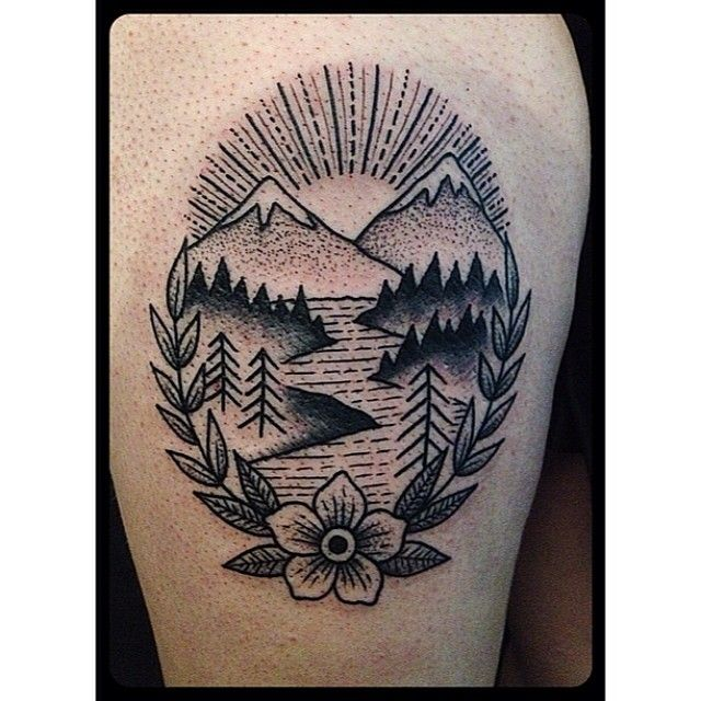 I would add color though, make the trees green tge water blue and so on By: Christian Lanouette