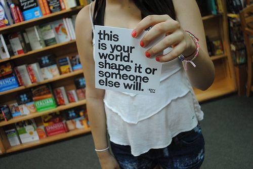 בחר את הדרך בה תרצה לחיות את חייך,או שתחיה חיים של אחרים