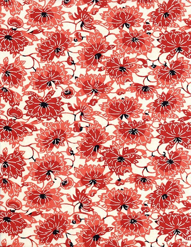 japanese paper #red #flower #pattern