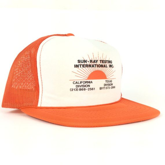 2e1a4749711cc On Sale Now Sun-Ray Testing International InCalifornia Texas Mesh Trucker  Hat Cap Snapback Adult Siz