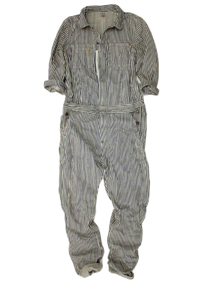 Railroad stripe work coveralls - summer grungies for the cutesy handy gal
