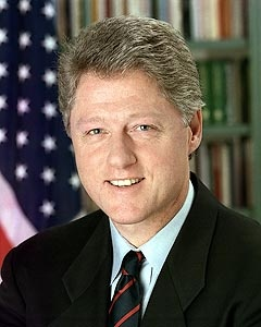Official presidential photograph of William Jefferson Clinton, the 42nd President of the United States. Clinton served as president 1993 to 2001.