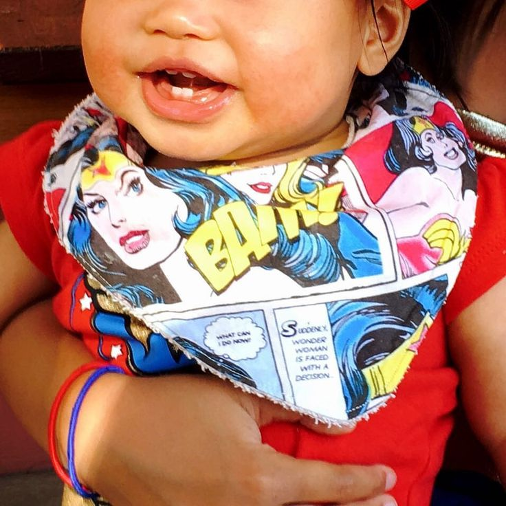 Wonderwoman Bandana Bib www.etsy.com/au/shop/MummyGDub