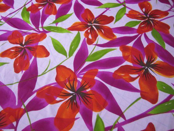 Lycra stof Hawaïaanse Hibiscus bloemen Print door Crystalshores