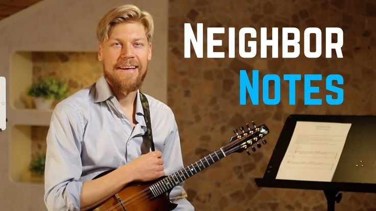 Jazz Mandolin Technique Lesson - Neighbor Notes - Mandolin Lick