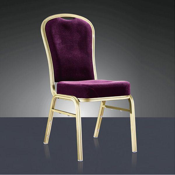 Calidad al por mayor fuerte de aluminio apilable silla de comedor LQ-L1039