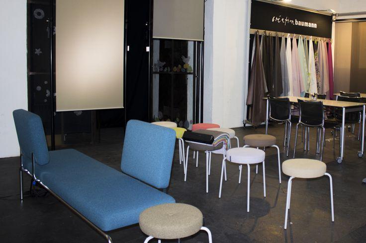 Some impressions of Création Baumann's exhibition at Münchner Stoff Frühling 2015 at Goldberg Studios.