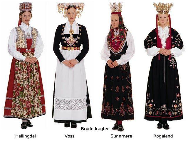 norwegian people | Brudedragter Bunads