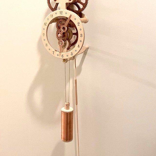 Wooden Wall Clock Lily Kit Etsy En 2020 Relojes De Pared Pared De Madera Tuberia De Cobre