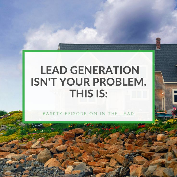 Most agents think real estate lead generation is the problem. They try to get leads. But end up just spinning their wheels. Here's what they're doing wrong: