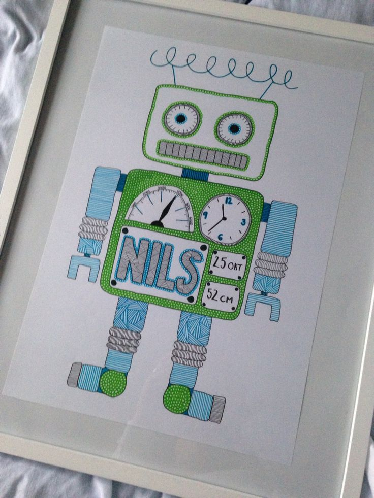 A robot for a little boy Finelinerart