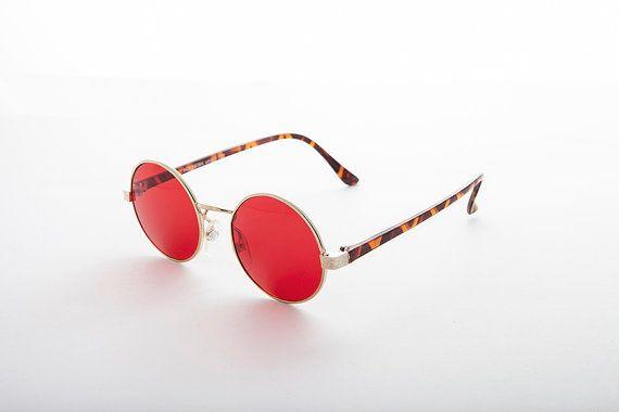 John Lennon Round Color Lens Vintage Sunglasses by SunglassMuseum