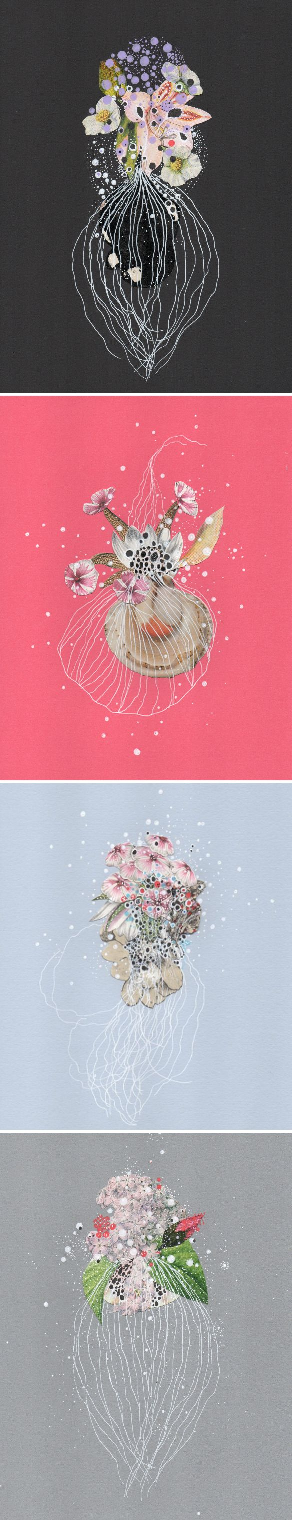 mixed media collages by jenny brown