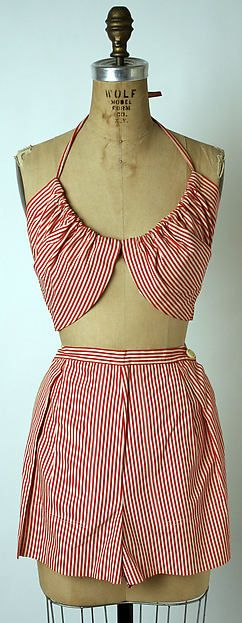 Ensemble, Claire McCardell, American, cotton, 1943-44