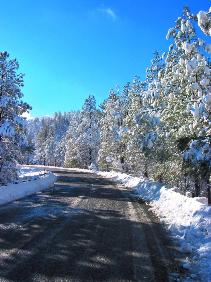 Winter Snow Prescott Arizona Beautiful Prescott