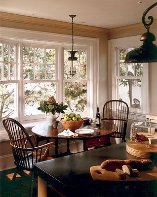 Kitchen chairs - I like this look... Use Miss Nickels table and chairs like these