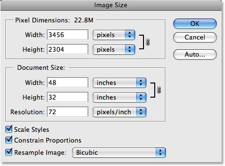 Image Resolution, Pixel Dimensions and Document Size in Photoshop