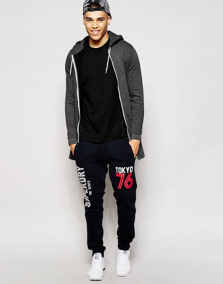 Image 4 ofSuperdry Joggers with Varsity Tokyo Print