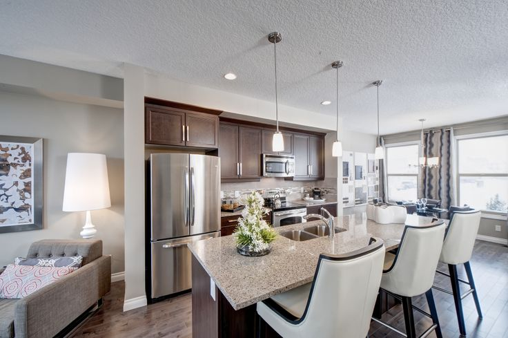 Kitchen design from our Roxbury showhome in Brownstones of Sage Meadows, Calgary