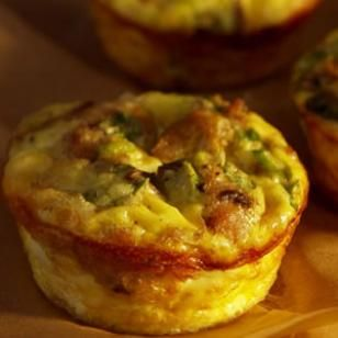 Mini Mushroom-&-Sausage Quiches Recipe