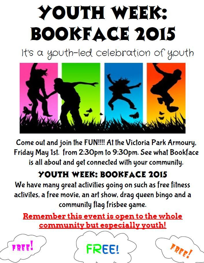 Join @BGCKL @YouthWarehouse at CKL Victoria Armories today until 9:30pm & check out the youth week event Bookface!