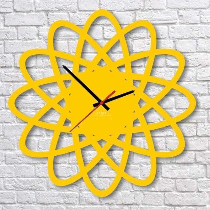 Zegar ścienny 4MyArt Edt Elipse żółty   sklep PrezentBox - akcesoria, zegary ścienne, prezenty
