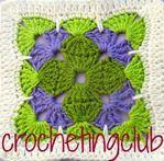 Ян Итон: трехцветный квадрат. Оригинальная версия crochetingclub. Обсуждение на LiveInternet - Российский Сервис Онлайн-Дневников
